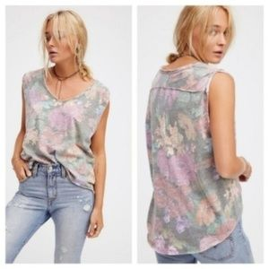 Free People We the Free Gardenia Floral Tee